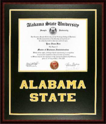 Alabama State Diploma Frame