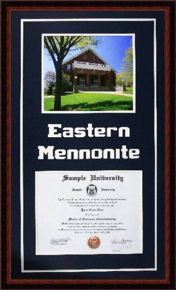 Lancaster Framing - Eastern Mennonite University Diploma Frame