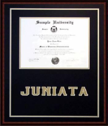 Lancaster Framing - Juniata College Diploma Frame