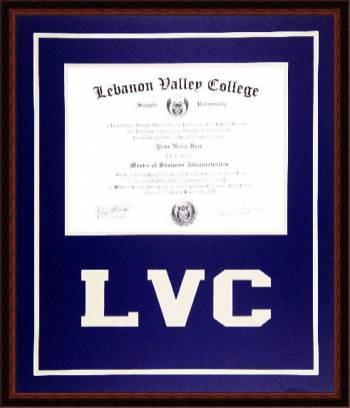 Lebanon  Valley College Diploma Frame