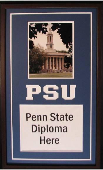 Penn State University Diploma Frame