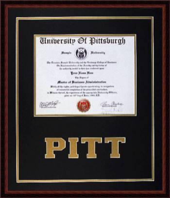 Pitt (University of) Diploma Frame
