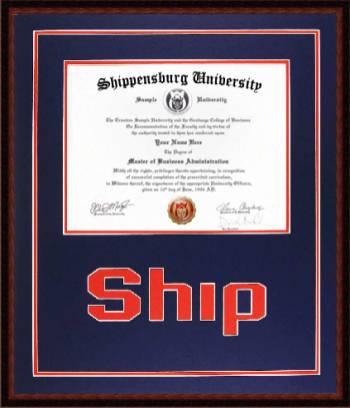 Shippensburg University Diploma Frame