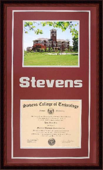 Stevens College of Technology Diploma Frame